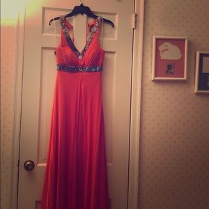 Sue Wong Coral Gown - Size 2